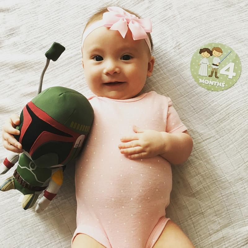 She's already a Star Wars fan!