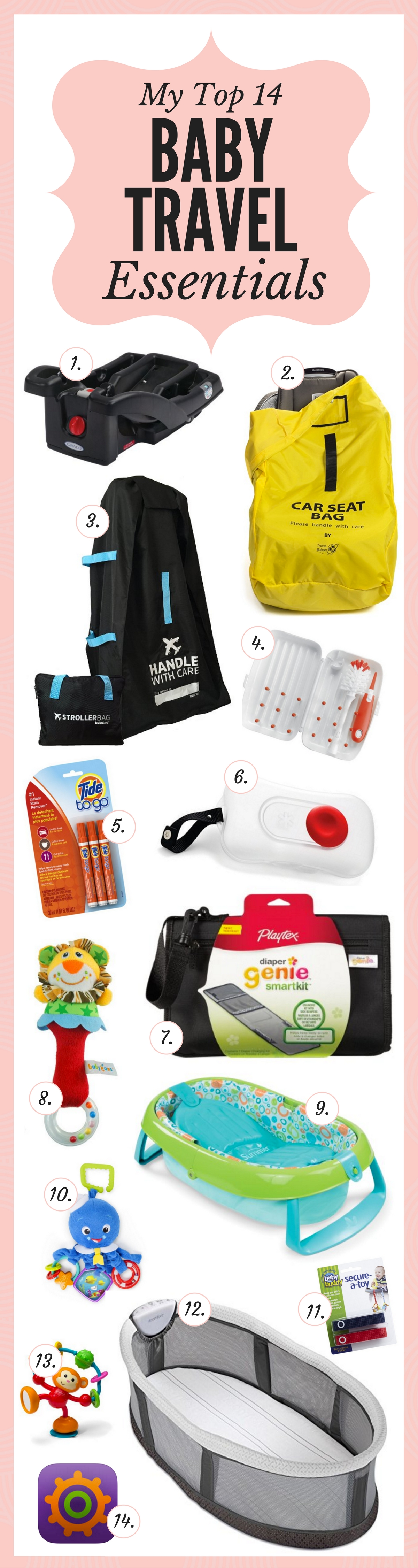 14 essentials for traveling with a baby