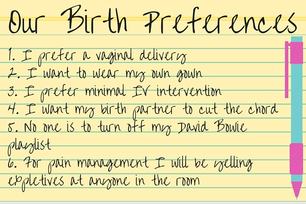 Our Birth Preferences Checklist