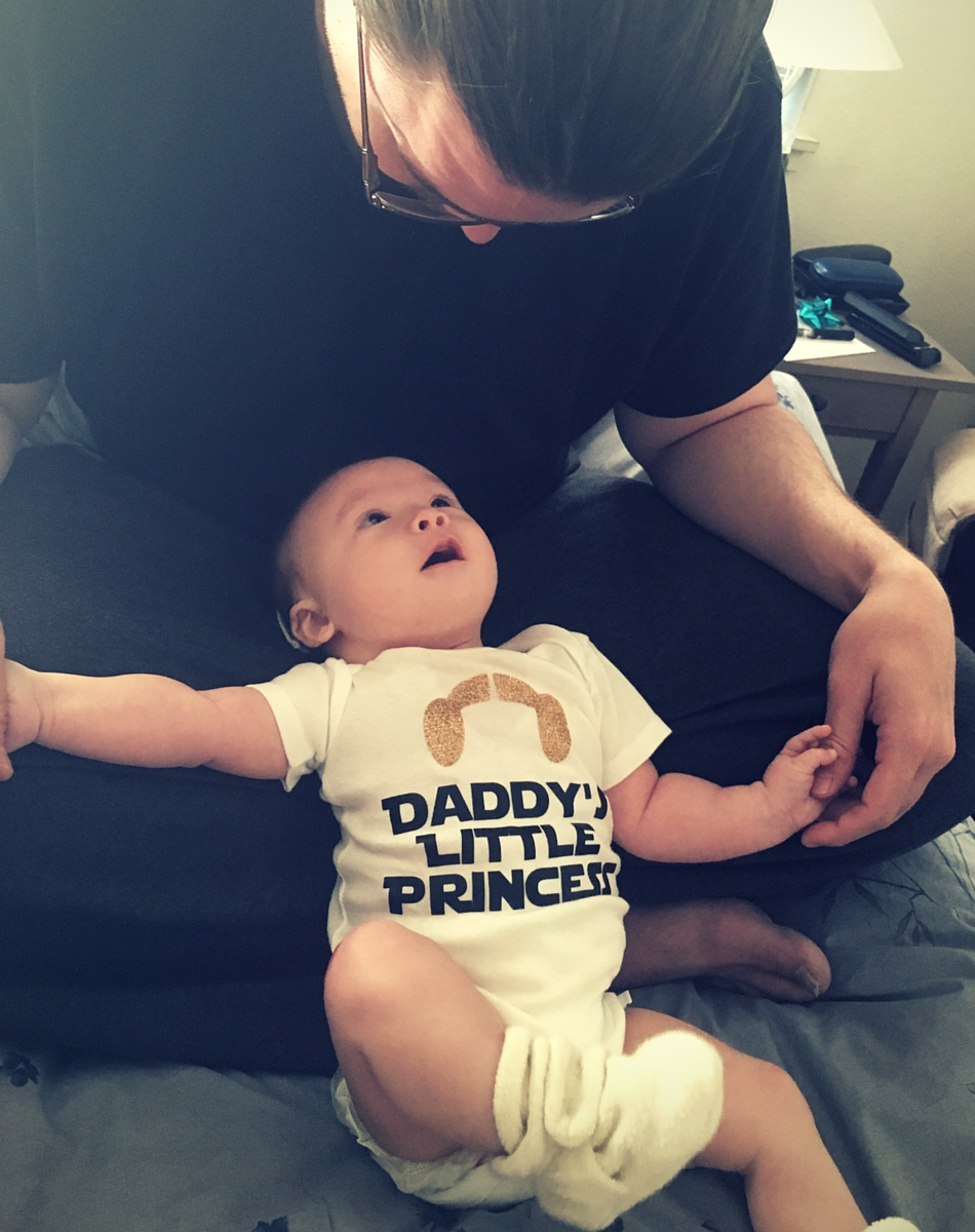 Daddy's little princess, she is!