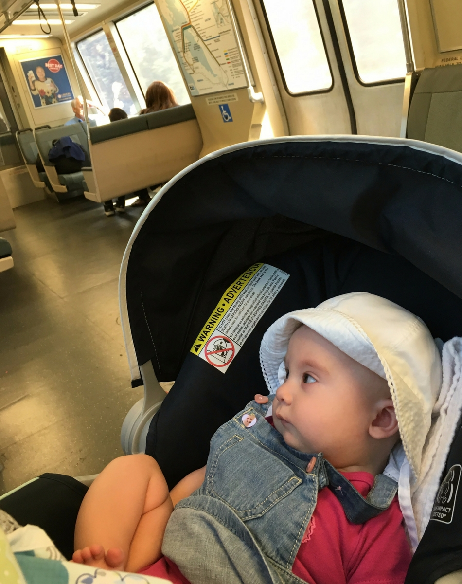 Maddy's first BART ride!
